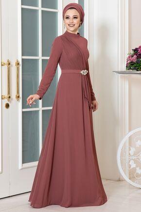 Dress Life - Tarçın Ecmel Abiye - DL16263