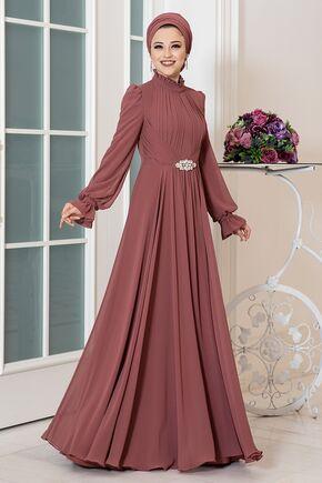 Dress Life - Tarçın Rüya Şifon Abiye - DL16230