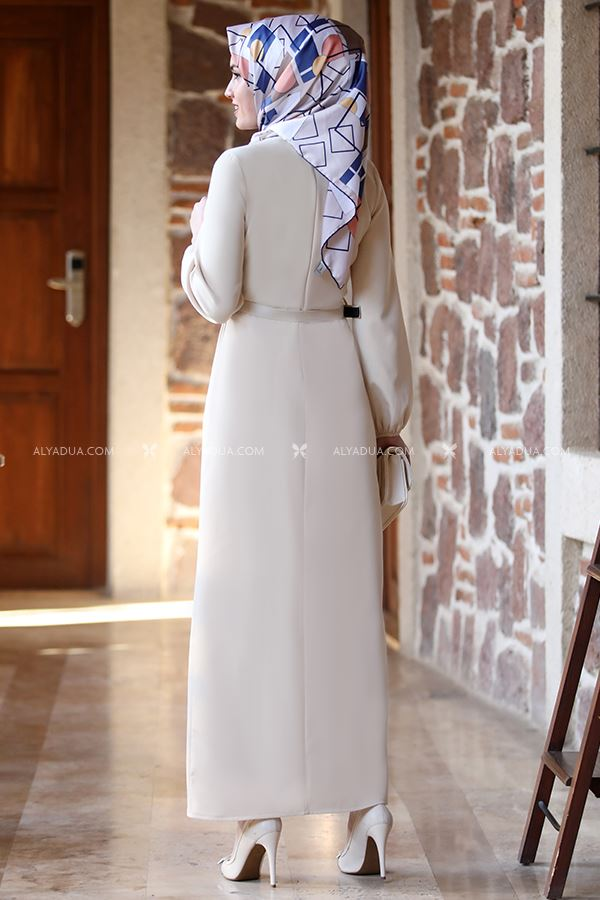 Alyadua - Taş Balon Kol Elbise - AD13498 (1)