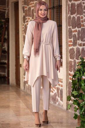 Fashion Showcase - Taş Beli Bağcıklı Çarpraz Takım - FS15436