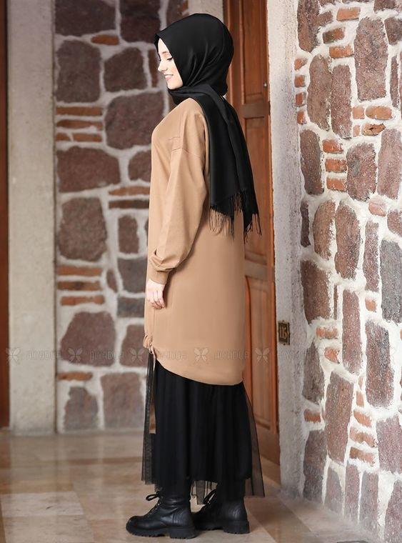 Vizon Kemerli Tunik Etek Takım - ADC14635