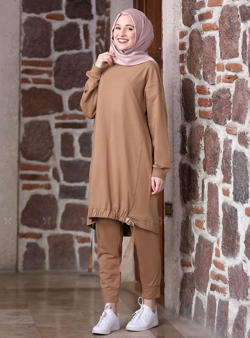 Vizon Kemerli Tunik Pantolon Takım - ADC14636