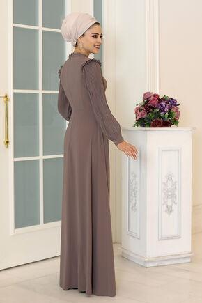 Vizon Merve Elbise - DL16492 - Thumbnail