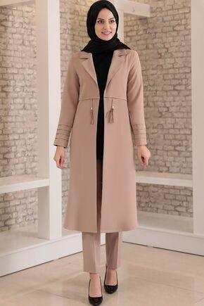 Fashion Showcase - Vizon Nervürlü İkili Takım - FS15694