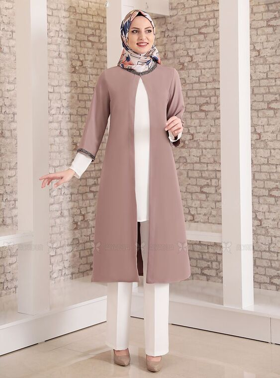 Fashion Showcase - Vizon Taş Detay Üçlü Takım - FS15032