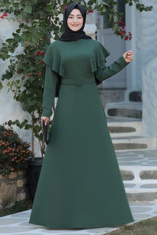 Rabeysa - Yeşil Damla Elbise - RS15784