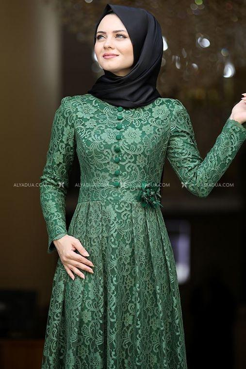 Yeşil Henna Abiye - AHU13994