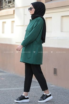 Yeşil Hera Ceket - ST14171 - Thumbnail