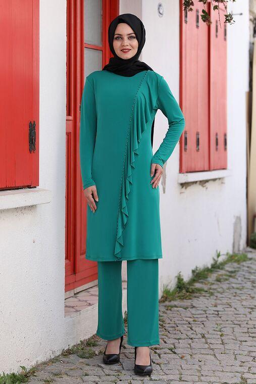 Ahunisa - Yeşil Seren İkili Takım - AHU15934