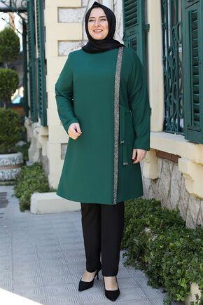 Emsale - Zümrüt İpek Tunik - ES15944