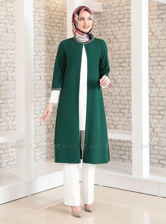 Fashion Showcase - Zümrüt Taş Detay Üçlü Takım - FS15031