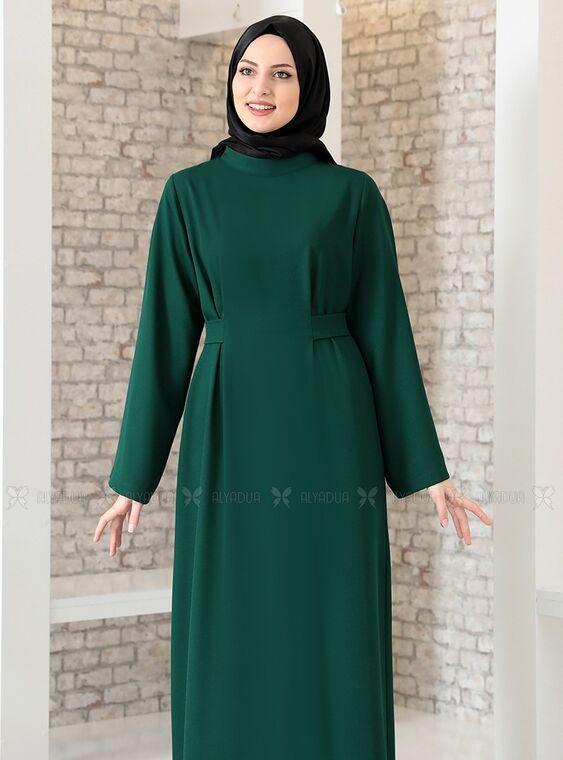Zümrüt Yonca Abaya Elbise - FS15207