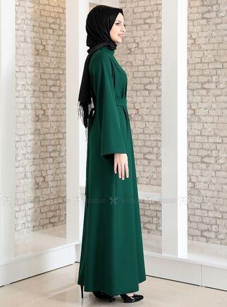 Zümrüt Yonca Abaya Elbise - FS15207 - Thumbnail